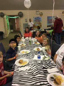 Dinner in Fellowship Hall 3