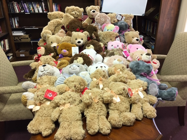 Bears Collected for Emergency Personnel for Children
