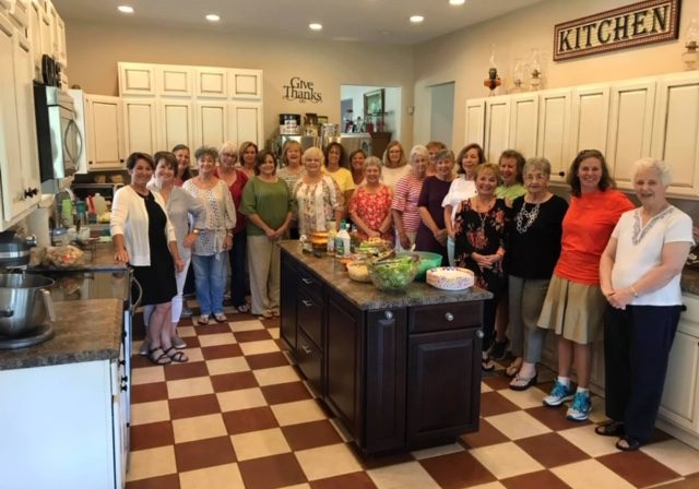 Ladies Luncheon Group at Pam and Joey Mays Home on 8-20-19